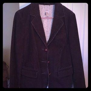 Brown  corduroy blazers jacket